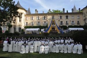 Siostry dominikanki nauczające, które przybyły na uroczystości w Saint-Pré
