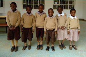 Uczniowie Szkoły Krzyża Świętego w Nairobi