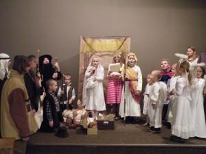Jasełka w wykonaniu dzieci z poznańskiej kaplicy FSSPX