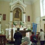 Modlitwa przed cudownym obrazem Matki Bożej Śnieżnej
