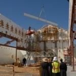 Zakończenie budowy konstrukcji dachu nowej świątyni