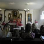 Msza św. o św. Andrzeju Boboli odprawiona w kaplicy FSSPX w Zaczerniu