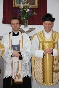 Ks. Łukasz Weber FSSPX i ks. Łukasz Szydłowski FSSPX