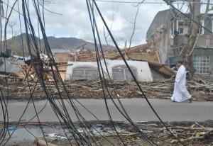 Pozostałości zniszczonej kaplicy FSSPX w Tacloban na Filipinach