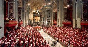 Obrady II Soboru Watykańskiego w bazylice św. Piotra