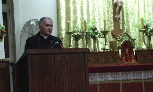 Bp Bernard Fellay podczas konferencji w Wanganui na Nowej Zelandii