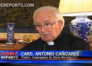 Kard. Antoni Cañizares Llovera udziela wywiadu reporterowi agencji ROME REPORT