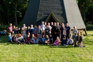 Uczestnicy pikniku w Obrzycku