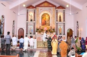 Msza św. sprawowana w należącej do FSSPX kaplicy pw. św. Tomasza Ap. w mieście Nagercoil na południu Indii