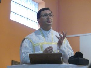 Ks. Karol Stehlin podczas kazania