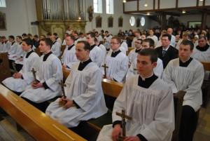 Nowo obłóczeni klerycy z seminarium w Zaitzkofen